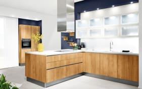 Einbauküche Vancouver in Alteiche natur-Optik, Bauknecht-Geschirrspüler