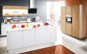 Einbauküche Loft in weiß, AEG Geschirrspüler