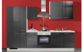 Einbauküche IP3050 in graphit Hochglanz