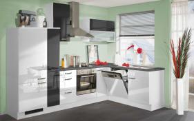 Einbauküche 270 in weiß Hochglanz