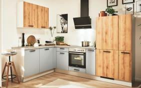 Einbauküche 700 PN100 664 Honig Eiche-Optik, Zanker Geschirrspüler KDT10003FB
