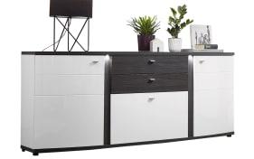 Sideboard Terrazzo in weiß/anthrazit