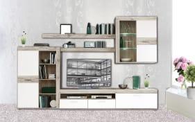 garderobenkombination zumba in sandeiche optik wei online bei hardeck kaufen. Black Bedroom Furniture Sets. Home Design Ideas
