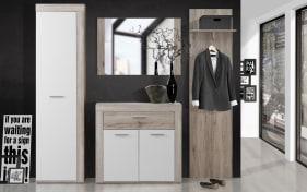 Garderobe Zumba in Sandeiche-Nachbildung/weiß
