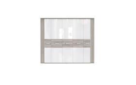 Kleiderschrank Rondino in weiß/Sandeiche-Optik