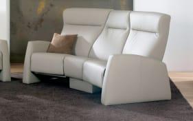 Trapez-Sofa für Funktions-Ledergarnitur in grau