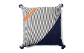 Kissenbezug Betina in blau/orange, 45 x 45 cm