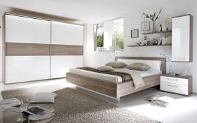 Schlafzimmer Luna in weiß/Eiche-Optik