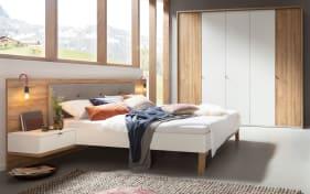 Schlafzimmer Cepina in Eiche Planked Oak-Optik/Absetzungen weiß