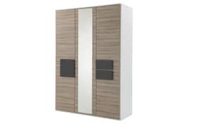 Kleiderschrank HiLight 323 in Driftwood-Optik/weiß