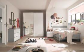 Jugendzimmer Studioline in hellgrau/alpinweiß