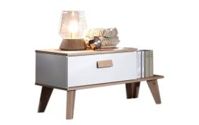 Nachttisch Jütland in weiß matt/Jackson Hickory-Optik