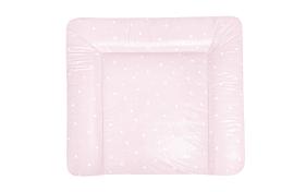 Wickelauflage Softy in rosa und weiß, B/T ca. 75 x 85 cm