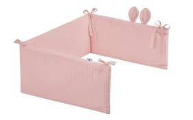 Nestchen mit Ohren in rosa mit Motiv Waffelpique Blush