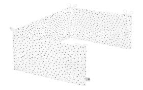 Nestchen Comfort Soft in weiß mit Muster Dots grau