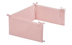 Nestchen in rosa mit Muster Waffelpique Blush