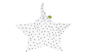 Schnuffeltuch Jersey in weiß mit Muster Dots grau