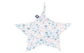 Schnuffeltuch Jersey in weiß mit Muster Blümchen