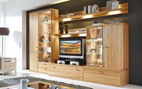 wohnwand trento in eiche online bei hardeck kaufen. Black Bedroom Furniture Sets. Home Design Ideas