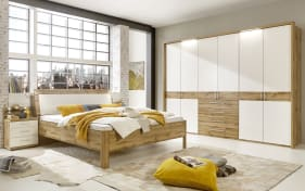 Schlafzimmer Padua in Balkeneiche-Optik/weiß