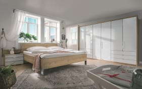 Schlafzimmer Loft in weiß/Bianco Eiche-Optik