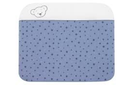 Wickelauflage Bärenkinder in blau/weiß
