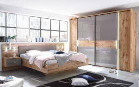 Schlafzimmer Milano in Wildeiche Nachbildung/Basaltgrau