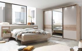 Schlafzimmer Lissabon in Eiche-Optik/champagner