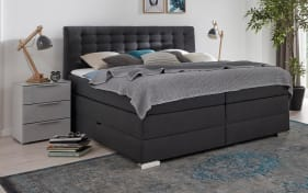 Boxspringbett Isa in anthrazit