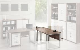 Büromöbel-Programm Contact - Schreibtischplatte in Trüffel-Eiche-Nachbildung 120 x 80 cm