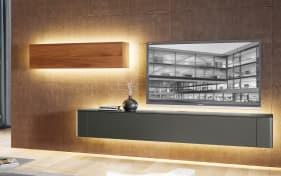 h lsta wohnwand gentis in hochglanz wei eiche online bei hardeck entdecken. Black Bedroom Furniture Sets. Home Design Ideas