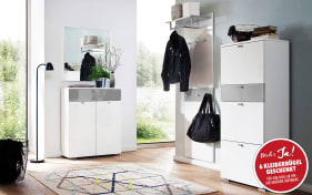 Garderobenkombi Una in weiß/grau