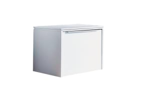 Garderobenbank Gloss in weiß