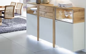 vitrine albero in lack wei matt santanaeiche ge lt online bei hardeck kaufen. Black Bedroom Furniture Sets. Home Design Ideas