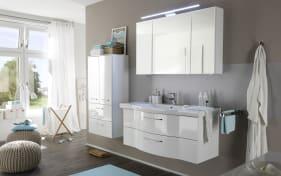 Bad-Einrichtung Solitaire 6005 in weiß Hochglanz/weiß Glanz