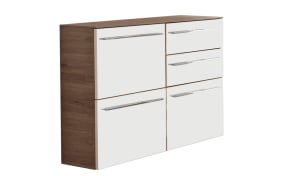 Sideboard Leo Living 112 in Glas Perlmutt/Sanremo Eiche-Optik