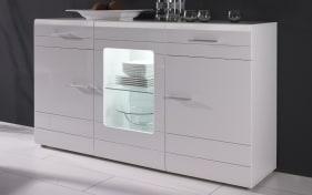 Sideboard Carero 1 in weiß Hochglanz