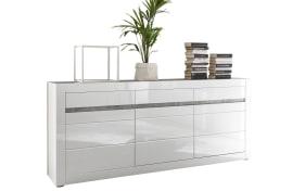 Sideboard Carat in weiß Hochglanz