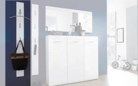 Garderobenpaneel GW-Adana in weiß