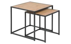 2-Satz-Tisch Seaford in Wildeiche-Optik/schwarz