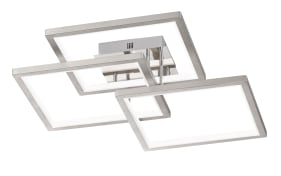 LED-Deckenleuchte Viso in nickel matt, 70 cm