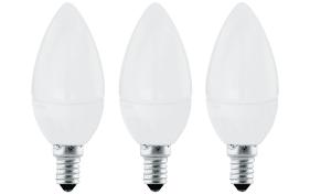 LED-Leuchtmittel 4W / E14 Kerze, 3er-Set
