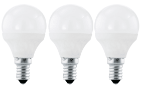 LED-Leuchtmittel Tropfen 4W / E14, 3er-Set