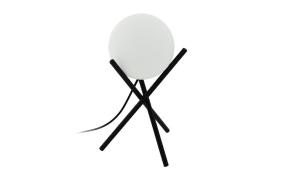 Tischleuchte Castellato in schwarz/weiß