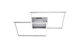 LED-Deckenleuchte Q-Inigo in stahlfarbig, 53 x 53 cm
