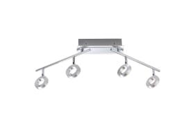 LED-Deckenleuchte Sileda in aluminium matt, 4-flammig