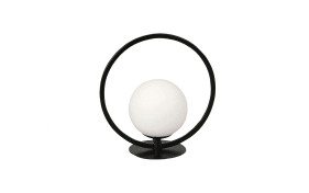 LED-Tischleuchte Sirio Circle in schwarz