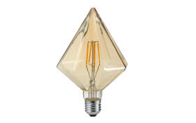 LED-Filament Diamant spitz in beige getönt, 4W / E27