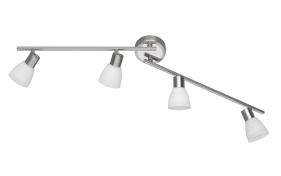 LED-Deckenleuchte Carico in nickel matt, 4-flammig