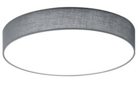 LED-Deckenleuchte Lugano in grau, 40 cm